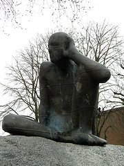 "Creative Commons ""Antony Gormley Untitled (Listening)"" by Amanda Slater is licensed under CC 2.0."