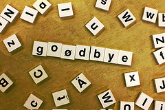 "Creative Commons ""goodbye"" by woodleywonderworks is licensed under CC BY 2.0."