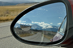 "Creative Commons ""only the blind spot mirror in focus"" by Jennifer Boyer is licensed under CC BY-ND 2.0."