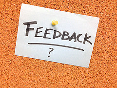 """Creative Commons """"Got Feedback?"""" by Alan Levine is licensed under CC BY 2.0."""