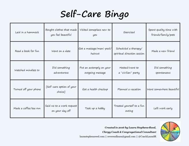 self care bingo 1